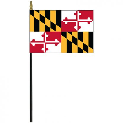 "MRF-46-MARYLAND Maryland 4"" x 6"" Staff Mounted Rayon-0"