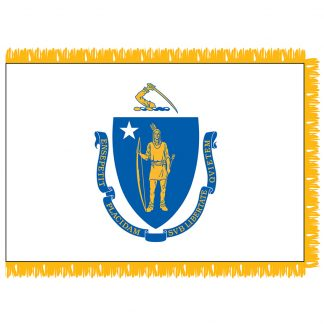SFI-204-MASSACHUSETT Massachusetts 4' x 6' Indoor Flag-0