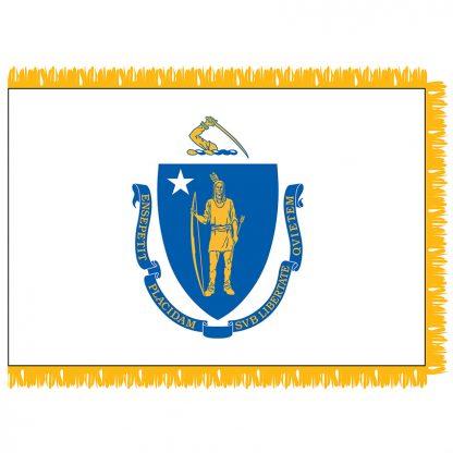 SFI-203-MASSACHUSETT Massachusetts 3' x 5' Indoor Flag-0