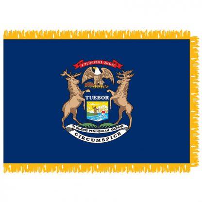 SFI-204-MICHIGAN Michigan 4' x 6' Indoor Flag-0