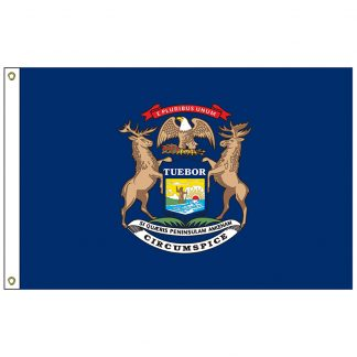 SF-104-MICHIGAN Michigan 4' x 6' Nylon Flag with Heading and Grommets-0