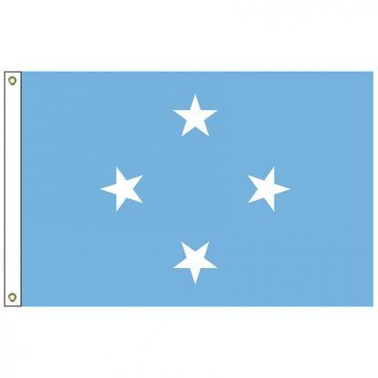 SF-104-MICRONESIA Micronesia 4' x 6' Nylon Flag with Heading and Grommets-0