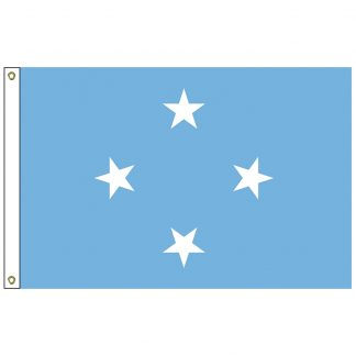 SF-103-MICRONESIA Micronesia 3' x 5' Nylon Flag with Heading and Grommets-0