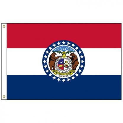 SF-106-MISSOURI Missouri 6' x 10' Nylon Flag with Heading and Grommets-0