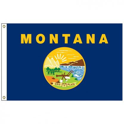 SF-104P-MONTANA Montana 4' x 6' 2-ply Polyester Flag with Heading and Grommets-0