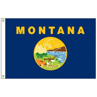 "SF-101-MONTANA Montana 12"" x 18"" Nylon Flag with Heading and Grommets-0"