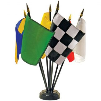 "MS-107 4"" x 5"" Mounted Auto Racing Mini Desk Set of 7-0"