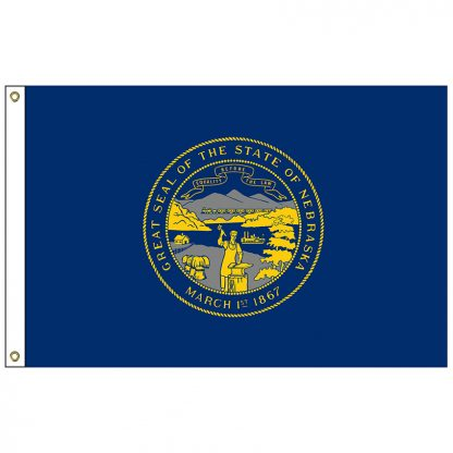 SF-102-NEBRASKA Nebraska 2' x 3' Nylon Flag with Heading and Grommets-0