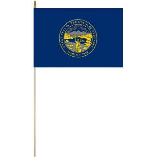 """EPC-1218-NEBRASKA Nebraska 12"""" x 18"""" Stick Flag-0"""