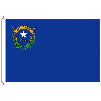 SF-812-NEVADA Nevada 8' x 12' Nylon Flag with Rope and Thimble-0