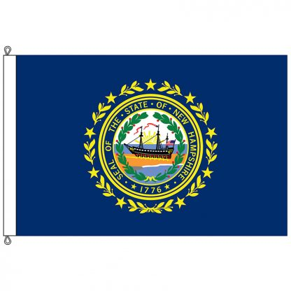 SF-1218-NEWHAMPSHIRE New Hampshire 12' x 18' Nylon Flag with Rope and Thimble-0