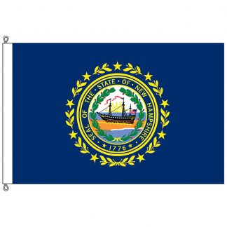 SF-812-NEWHAMPSHIRE New Hampshire 8' x 12' Nylon Flag with Rope and Thimble-0