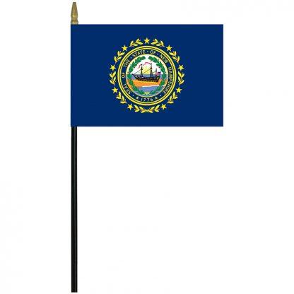 "MRF-46-NEW HAMPSHIRE New Hampshire 4"" x 6"" Staff Mounted Rayon-0"