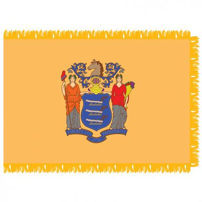 SFI-204-NEWJERSEY New Jersey 4' x 6' Indoor Flag-0