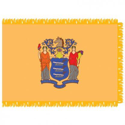 SFI-203-NEWJERSEY New Jersey 3' x 5' Indoor Flag-0