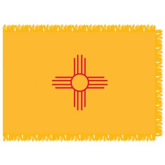 SFI-204-NEWMEXICO New Mexico 4' x 6' Indoor Flag-0