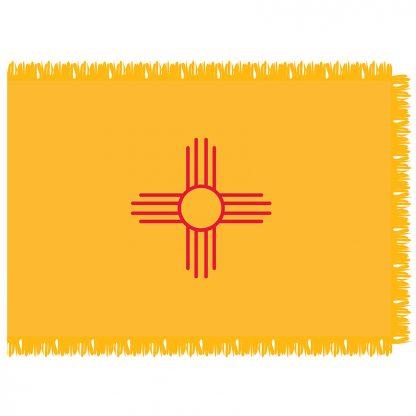 SFI-204-NEWMEXICO New Mexico 4' x 6' Indoor Flag-0
