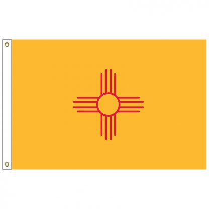 SF-104P-NEWMEXICO New Mexico 4' x 6' 2-ply Polyester Flag with Heading and Grommets-0