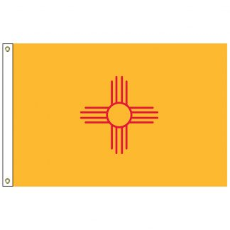 "SF-101-NEWMEXICO New Mexico 12"" x 18"" Nylon Flag with Heading and Grommets-0"