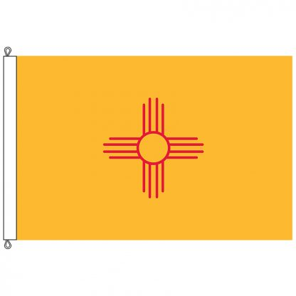 SF-1015-NEWMEXICO New Mexico 10' x 15' Nylon Flag with Rope and Thimble-0