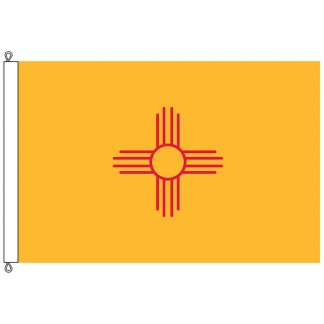 SF-812-NEWMEXICO New Mexico 8' x 12' Nylon Flag with Rope and Thimble-0
