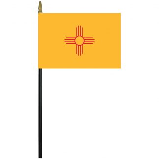 "MRF-46-NEW MEXICO New Mexico 4"" x 6"" Staff Mounted Rayon-0"