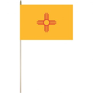 "EPC-1218-NEW MEXICO New Mexico 12"" x 18"" Stick Flag-0"