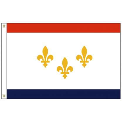 CF-5X8-NEWORLEANS New Orleans 5' x 8' Nylon Flag with Heading and Grommets-0