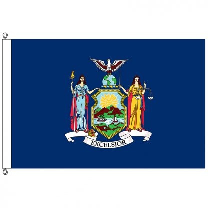 SF-1218-NEWYORK New York 12' x 18' Nylon Flag with Rope and Thimble-0