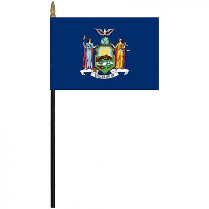 "MRF-46-NEW YORK New York 4"" x 6"" Staff Mounted Rayon-0"