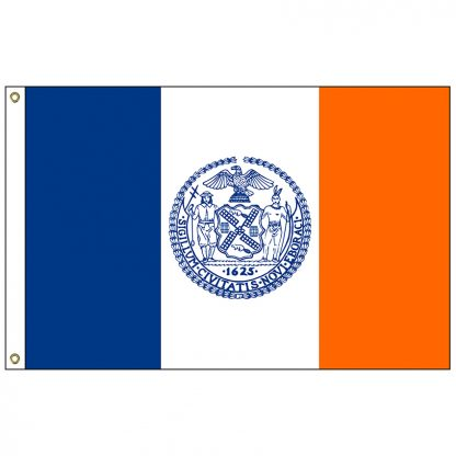 CF-3X5-NYC New York City 3' x 5' Nylon Flag with Heading and Grommets-0