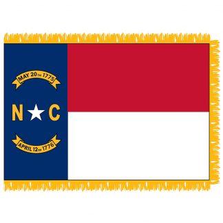 SFI-204-NCAROLINA North Carolina 4' x 6' Indoor Flag-0