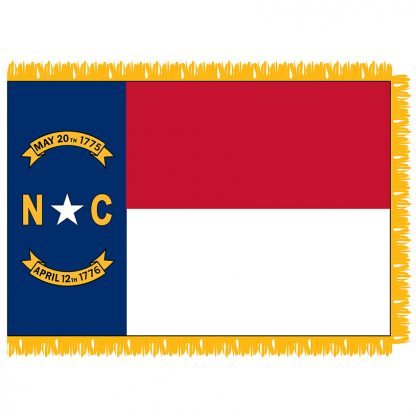 SFI-203-NCAROLINA North Carolina 3' x 5' Indoor Flag-0