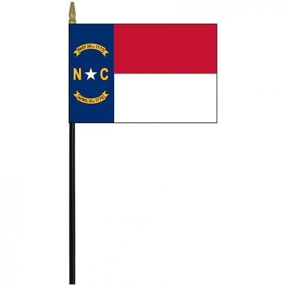 "MRF-46-NORTHCAROLINA North Carolina 4"" x 6"" Staff Mounted Rayon-0"