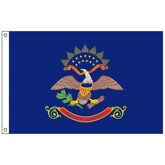 SF-103P-NORTHDAKOTA North Dakota 3' x 5' 2-ply Polyester Flag with Heading and Grommets-0