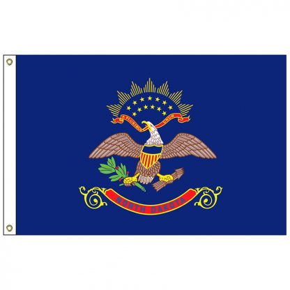 SF-103-NDAKOTA North Dakota 3' x 5' Nylon Flag with Heading and Grommets-0