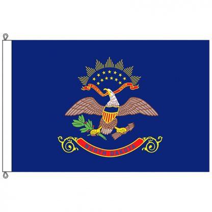 SF-812-NORTHDAKOTA North Dakota 8' x 12' Nylon Flag with Rope and Thimble-0