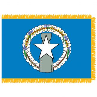 SFI-203-NMARIANAS Northern Marianas 3' x 5' Indoor Flag with Pole Hem & Golden Fringe-0
