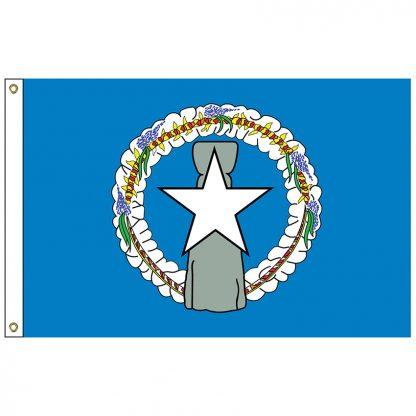 SF-105-NMARIANAS Northern Marianas 5' x 8' Nylon Flag-0