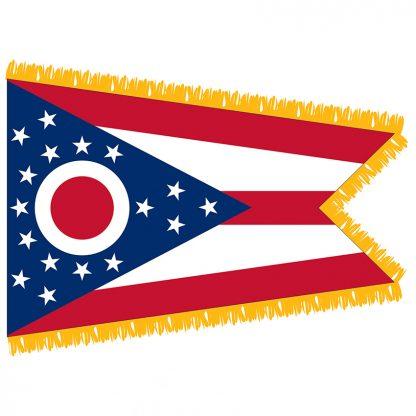 SFI-203-OHIO Ohio 3' x 5' Indoor Flag-0