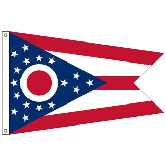 SF-105P-OHIO Ohio 5' x 8' 2-ply Polyester Flag with Heading and Grommets-0