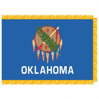 SFI-204-OKLAHOMA Oklahoma 4' x 6' Indoor Flag-0