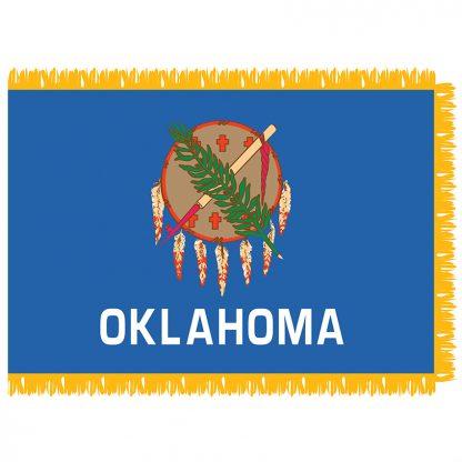 SFI-203-OKLAHOMA Oklahoma 3' x 5' Indoor Flag-0