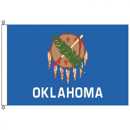 SF-1218-OKLAHOMA Oklahoma 12' x 18' Nylon Flag with Rope and Thimble-0