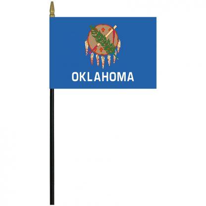 """MRF-46-OKLAHOMA Oklahoma 4"""" x 6"""" Staff Mounted Rayon-0"""