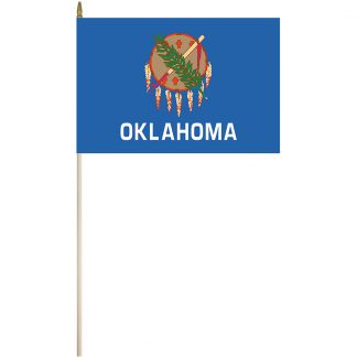 """EPC-1218-OKLAHOMA Oklahoma 12"""" x 18"""" Stick Flag-0"""