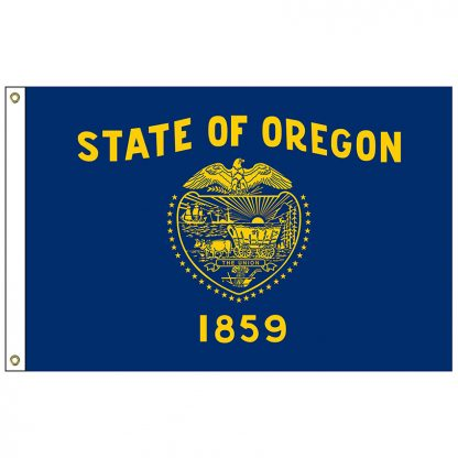 """SF-101-OREGON Oregon 12"""" x 18"""" Nylon Flag with Heading and Grommets-0"""