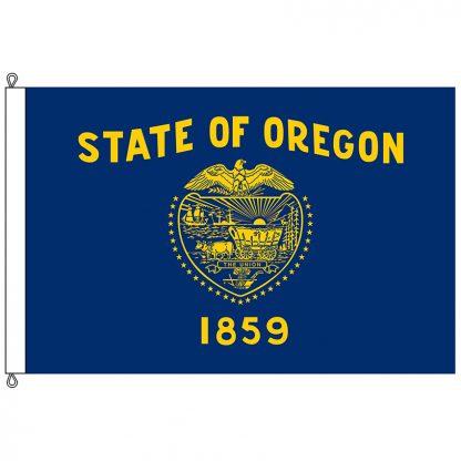 SF-1218-OREGON Oregon 12' x 18' Nylon Flag with Rope and Thimble-0