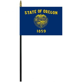 "MRF-46-OREGON Oregon 4"" x 6"" Staff Mounted Rayon-0"