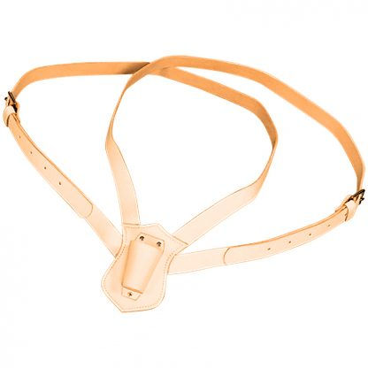 PCB-120 Double Harness Leather Carrying Belts, Tan-0